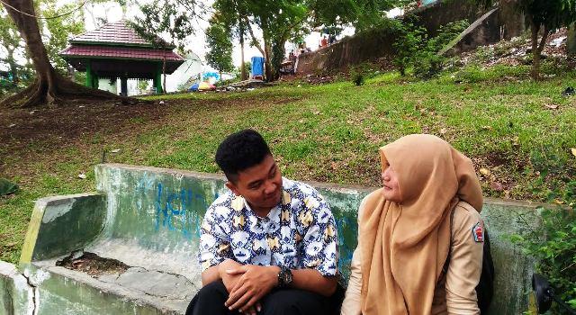 Taman Dipangga Terlihat Kumuh Warga Setuju Polda Lampung Ambil Alih