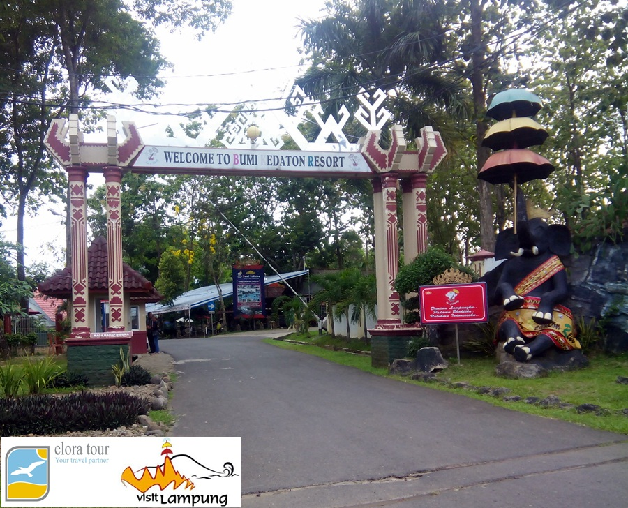Bumi Kedaton Taman Wisata Letaknya Dekat Kota Bandar Lampung Gajah