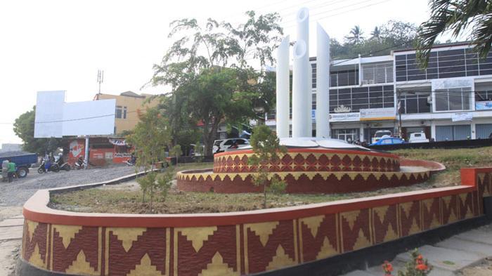 Foto Taman Persimpangan Jl Perintis Kemerdekaan Gajah Mada Tribun Lampung