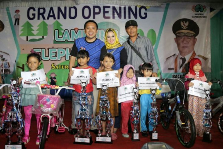 Gubernur Lampung Ridho Ficardo Meresmikan Taman Gajah Antara News Kota