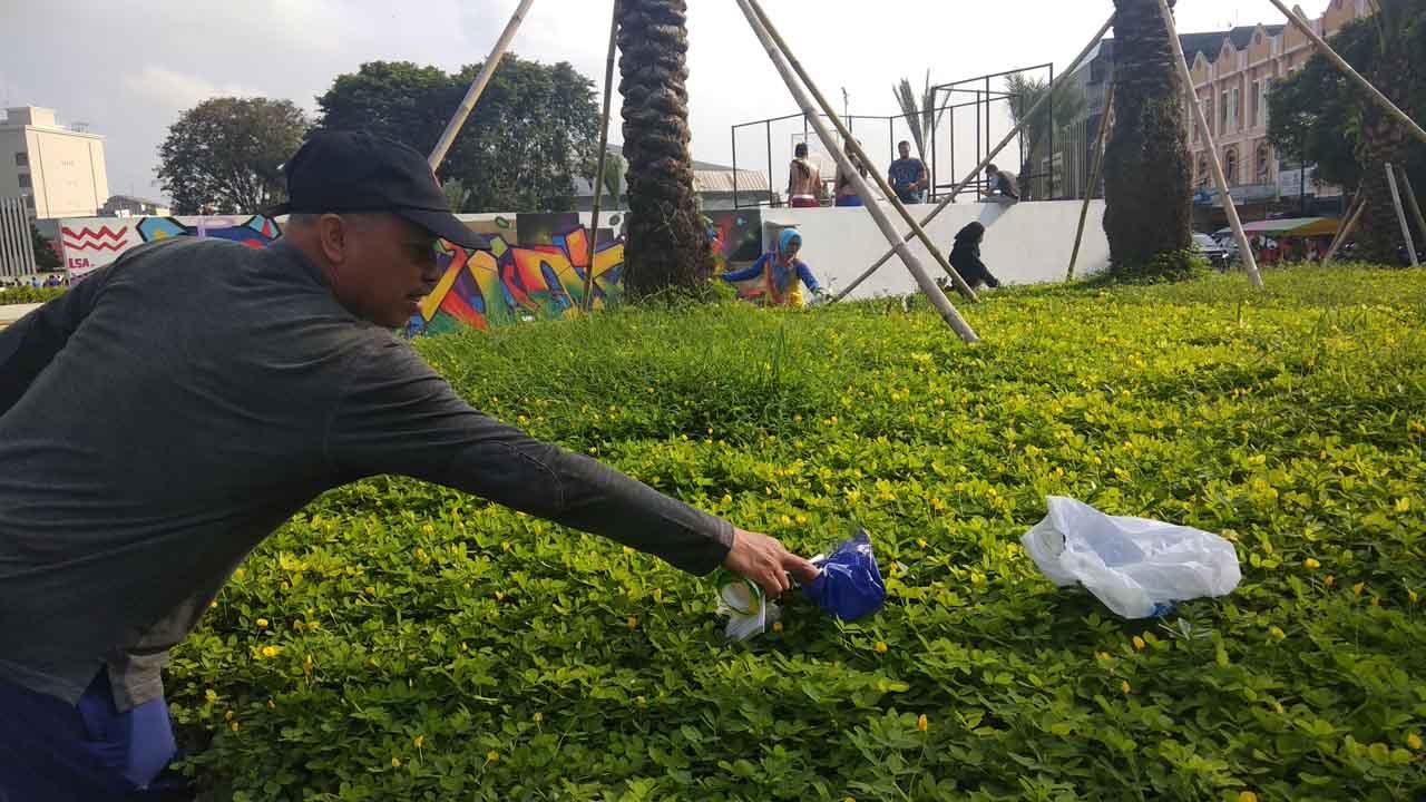 Jelang Ramadan Getar Sucikan Taman Gajah Bandarlampung Pikiran Lampung Kota