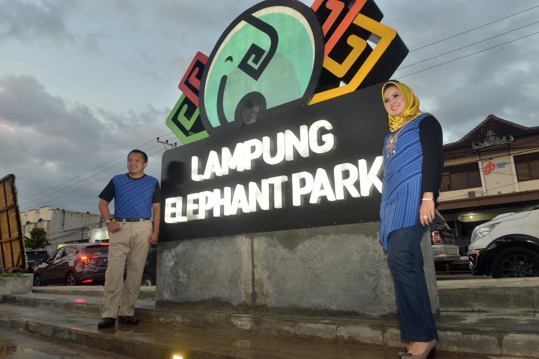 Taman Gajah Lampung Bisa Dinikmati Warga Pikiran Gubernur Ridho Ficardo