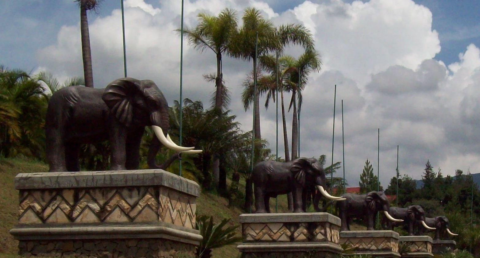 Wisata Bandung Kampung Gajah Aneka Tempat Patung Taman Lampung Kota