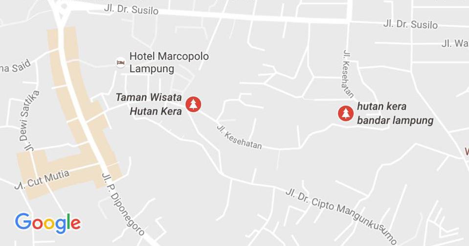 Bertandang Taman Hutan Kera Bandar Lampung Duniaindra Peta Letak Wisata