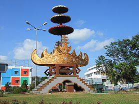Bandar Lampung Wikiwand Top Left Adipura Monument Aerial View Southern