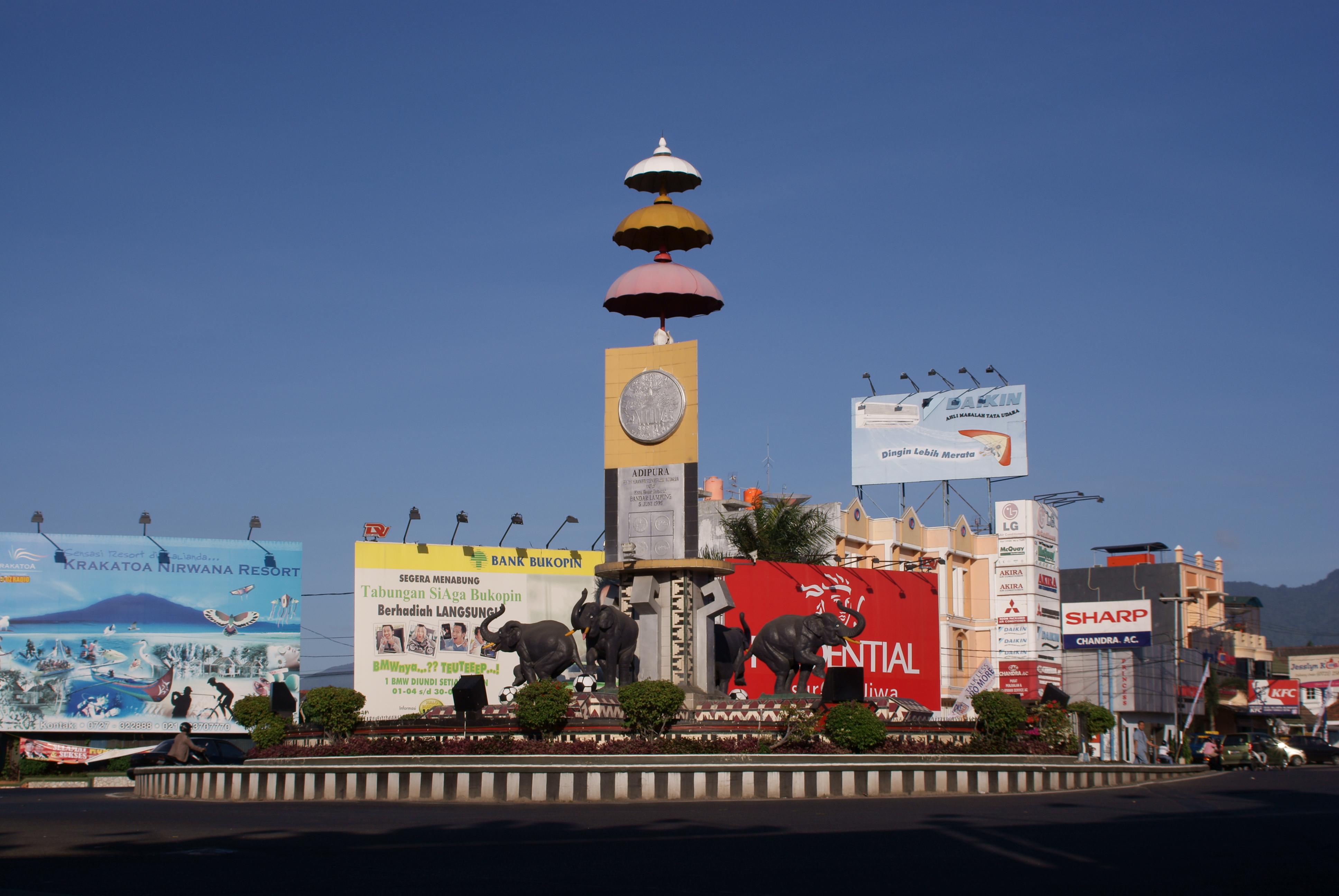 File Bundaran Tugu Adipura Bandar Lampung Jpg Wikimedia Commons Kota