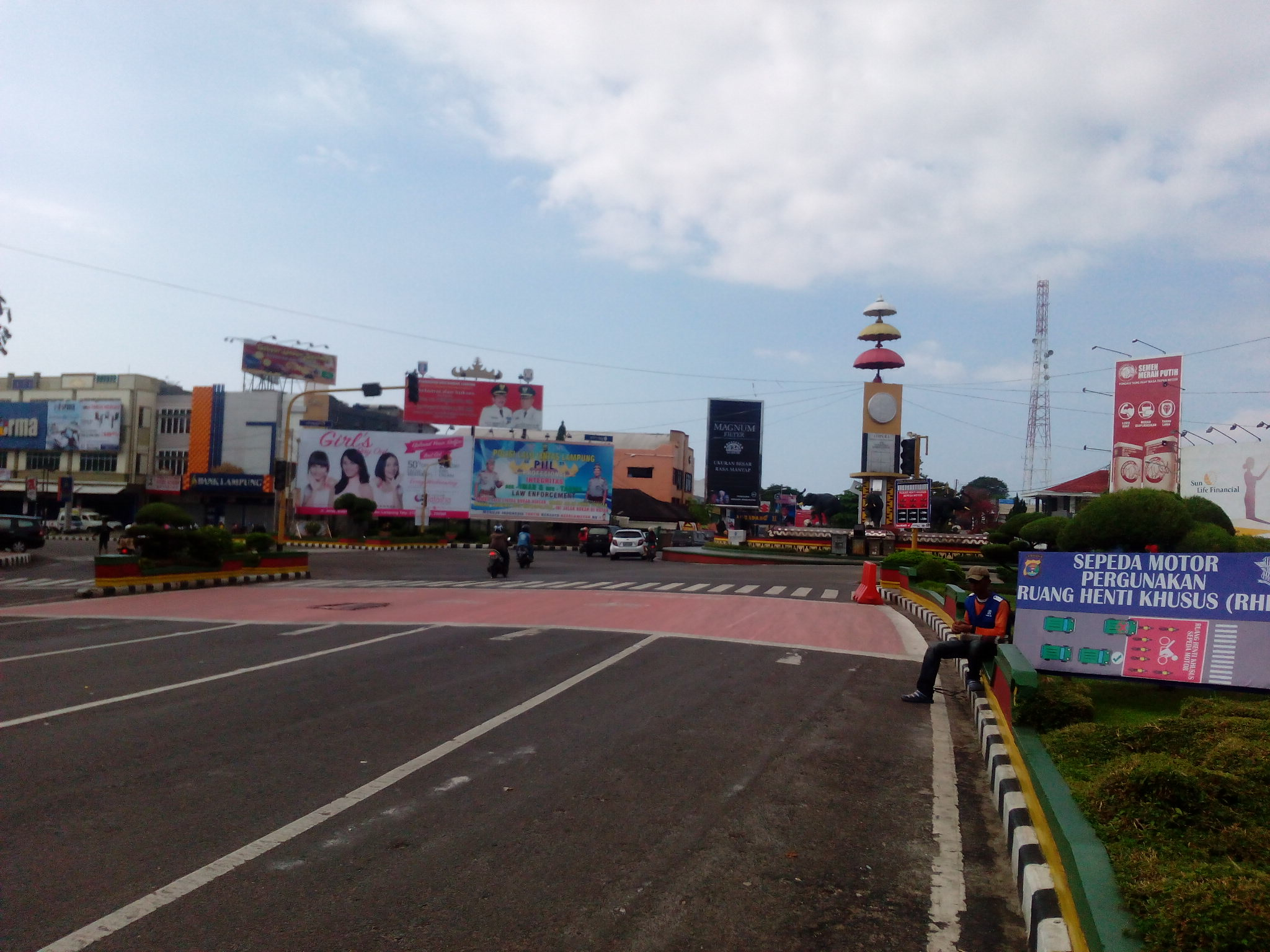 Hari Raya Nyepi Kondisi Lalin Pagi Kota Bandar Lampung Lengang