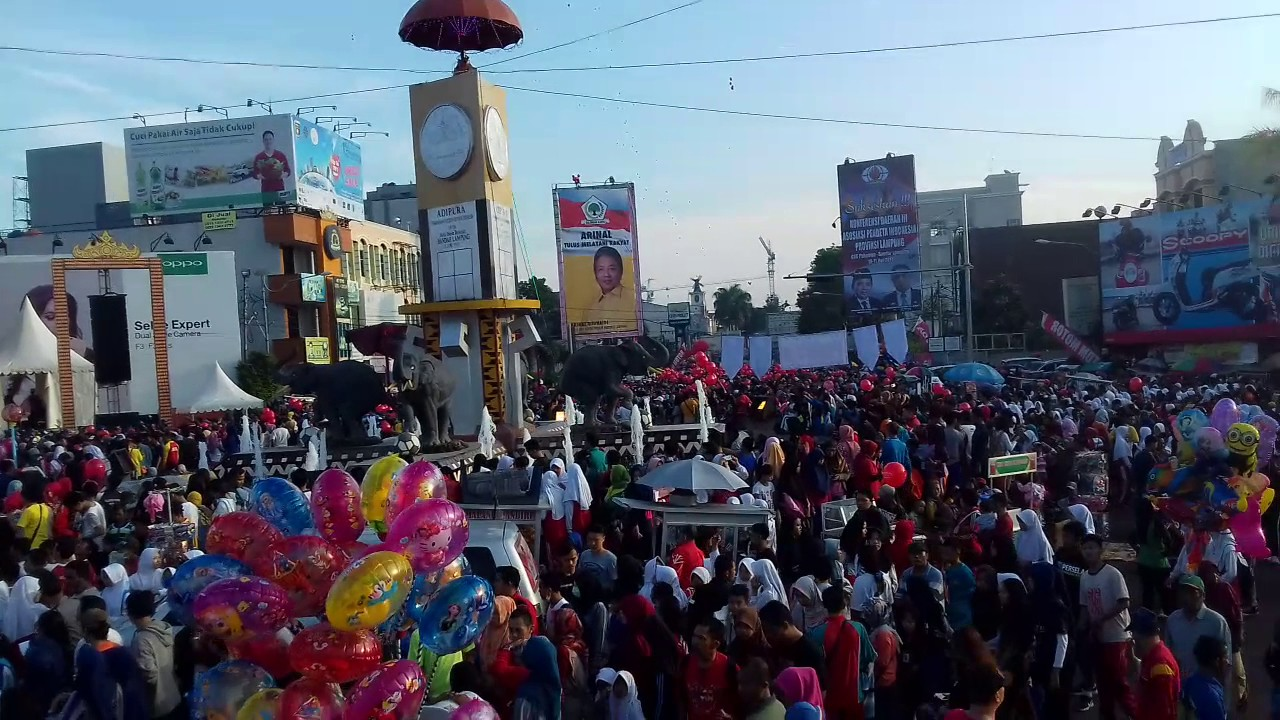 Jalan Sehat Rangka Memperingati Hut Kota Bandar Lampung 335 Tugu