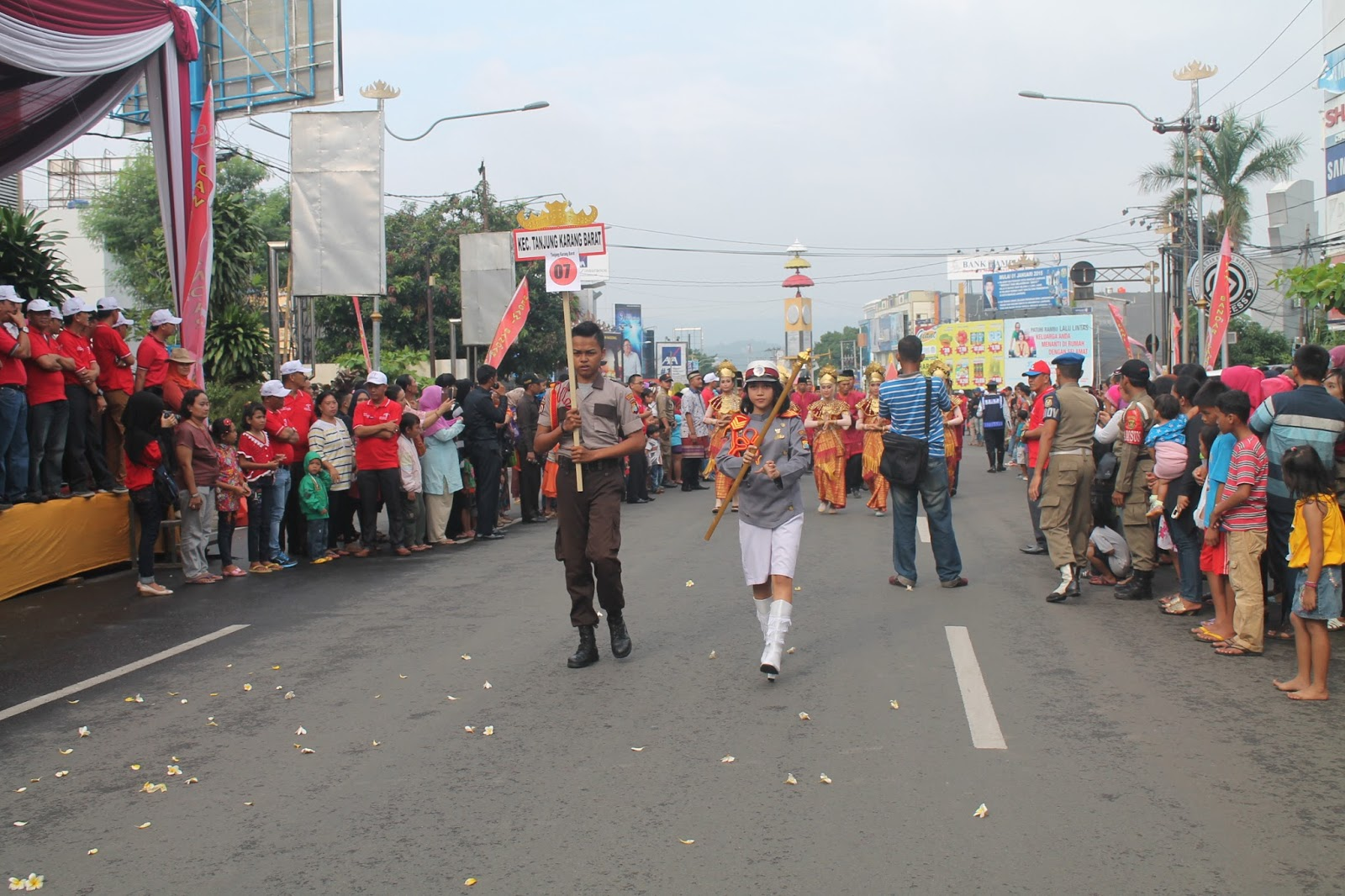 Pawai Budaya Memeriahkan Hari Ulang 333 Kota Bandarlampung Bandar Lampung