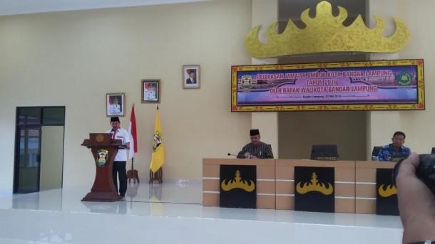 Pawai Simpatik Ramadan Ribuan Pelajar Tumpah Tugu Adipura Bandar Lampung