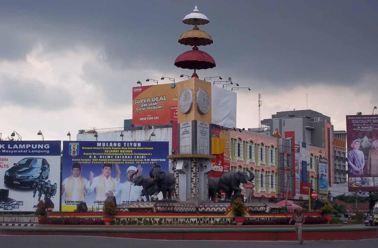 Potret Tanjung Karang Pusat Kota Bandar Lampung Dadakan Tugu Adipura