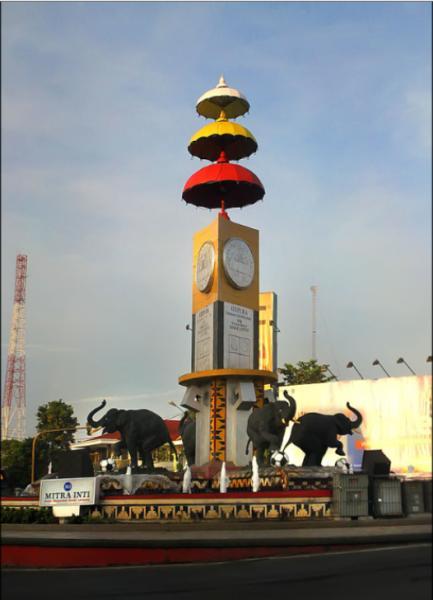Tugu Adipura Bundaran Gajah Bandar Lampung Kota