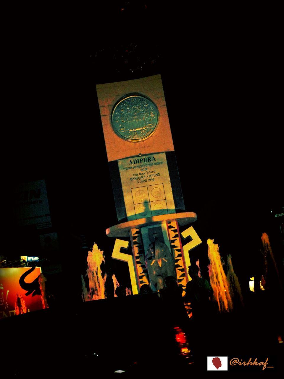 Tugu Adipura Ikon Kota Bandar Lampung Indonesia Bandarlampung Tuguadipura Gajahlampung