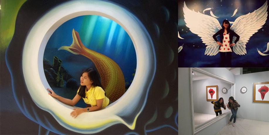 Berfoto Lukisan 3d Trick Art Museum 4 Mega Krismaini Blog