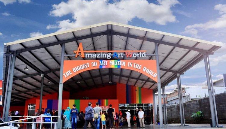Berfoto Ria Amazing Art World Bandung Museum 3d Terbesar Sedunia