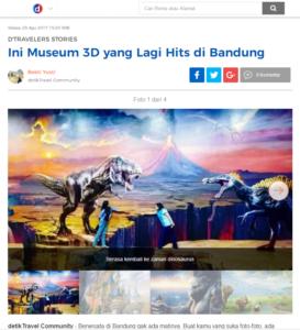 Detikcom Museum 3d Hits Bandung Amazing Art World Wisata Musium