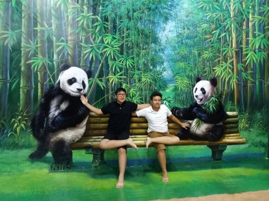 Familiarity Family Panda Picture Amazing Art World Musium 3d Bandung