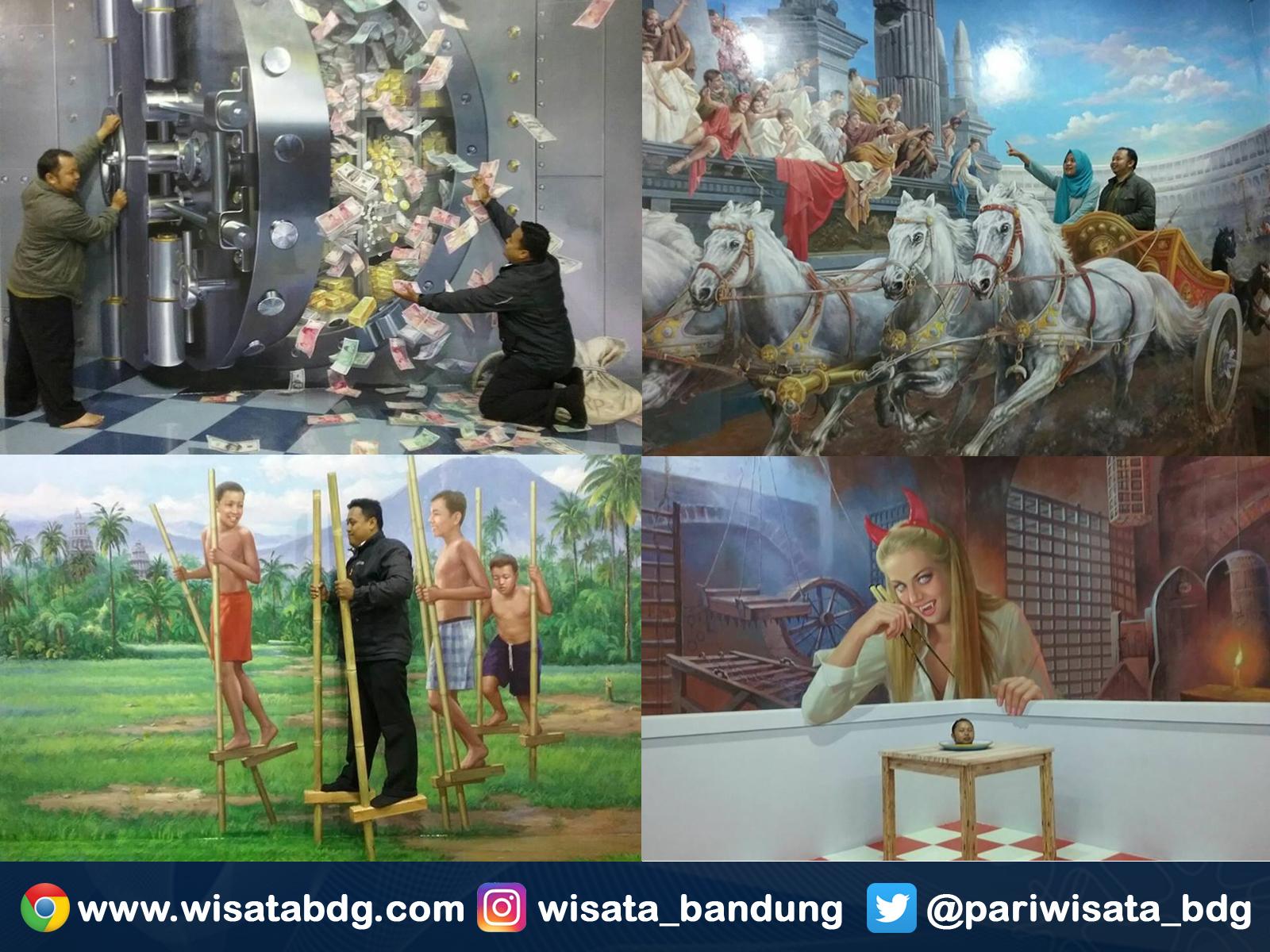 Wisata Berfoto Latar Lukisan 3d Amazing Art World Bandung Foto