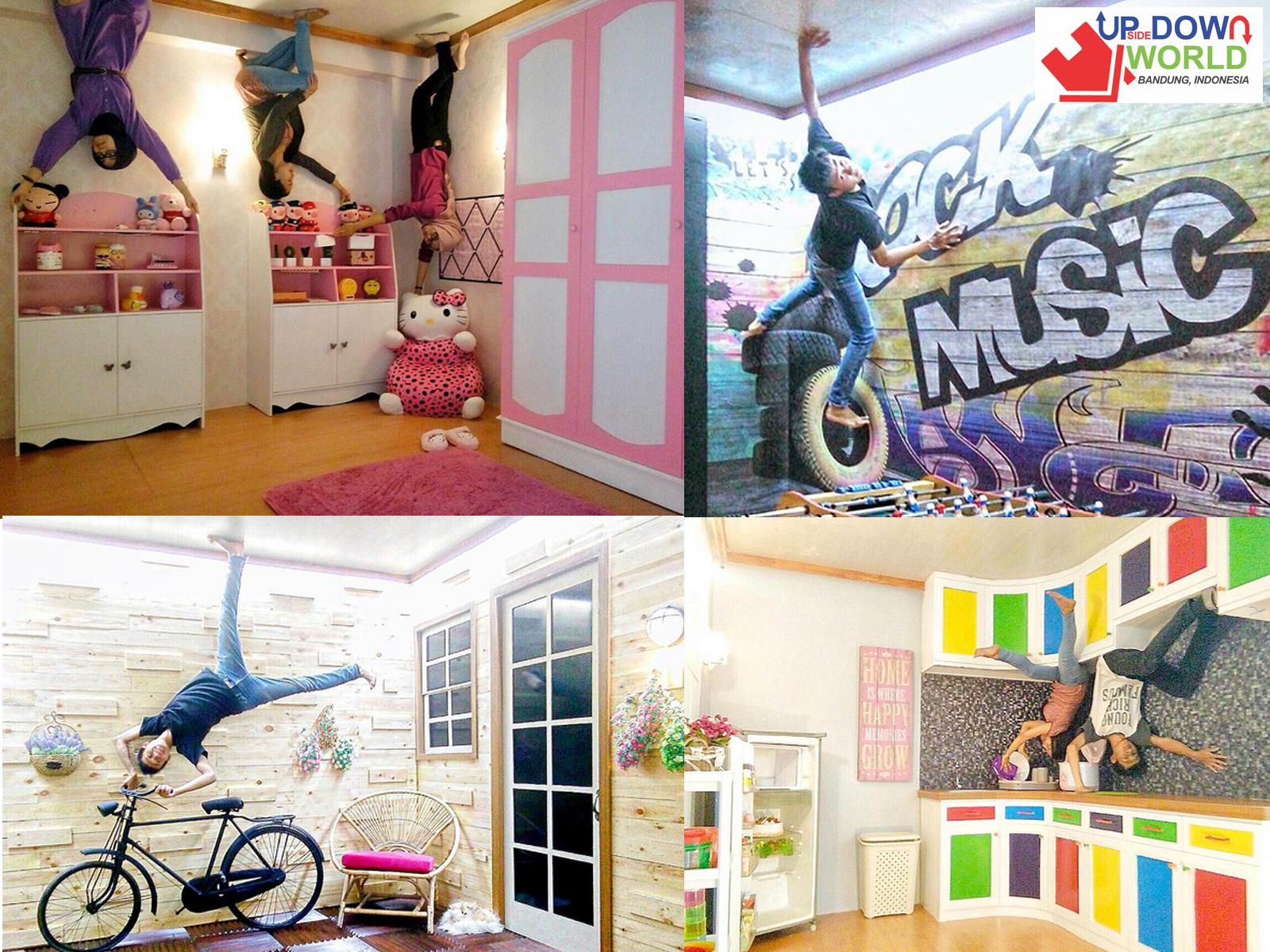 Wisata Foto Terbalik Upside World Bandung Wisatabdg Musium 3d Kota