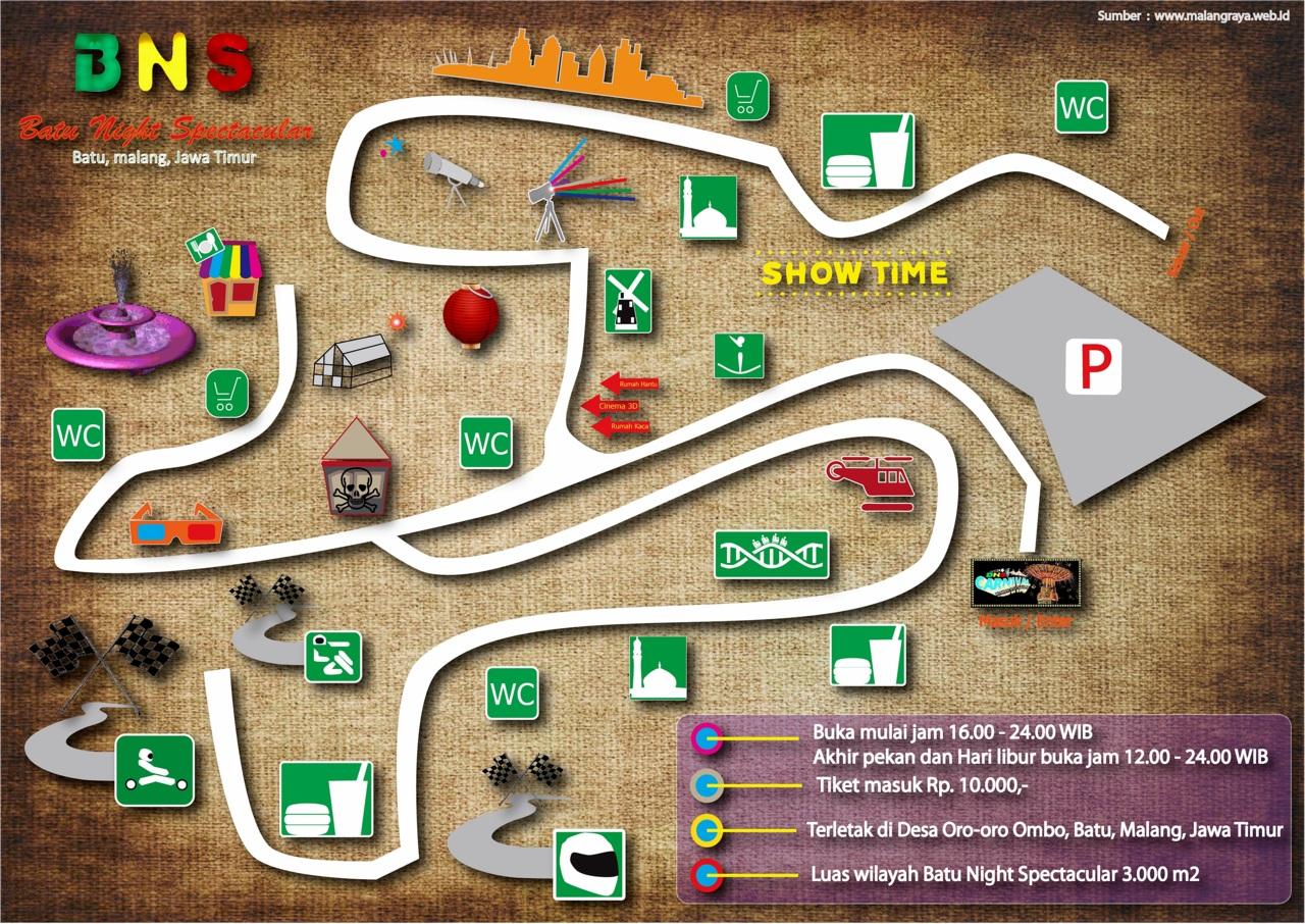 Infografik Batu Night Spectacular Buat Bertemakan Tentang Pariwisata Kota Malang