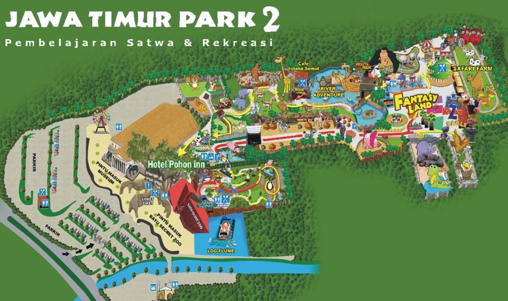 Peta Jatim Park Ii Jpg 1024 607 Vacation Spot Pinterest