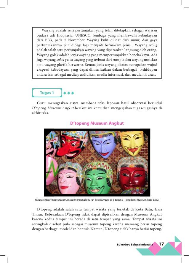 Kelas Bahasa Indonesia Bg 33 Museum Topeng Kota Batu