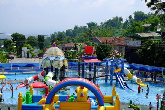 Landscape Predator Fun Park Picture Batu Kolam Renang Bagi Buah