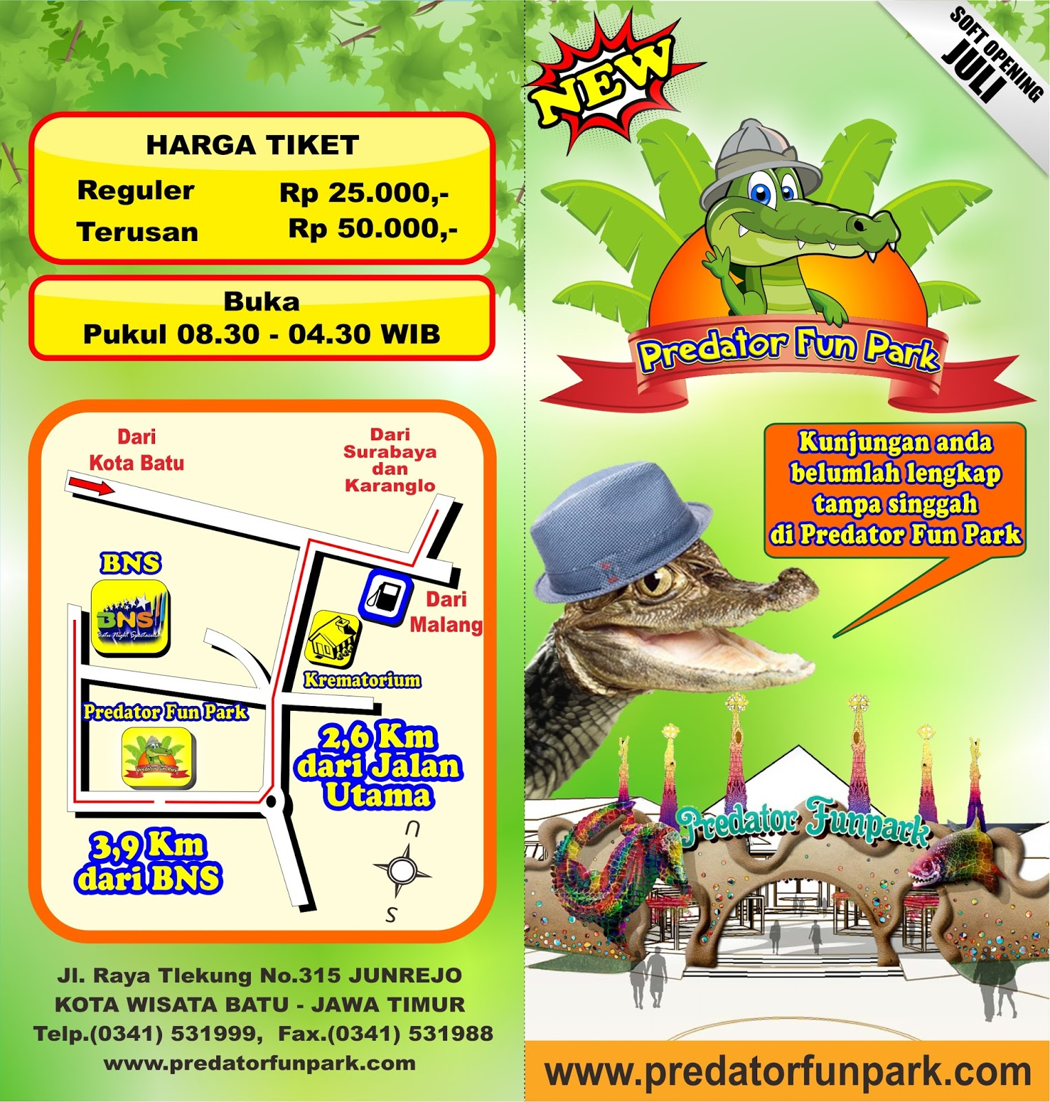 Predator Fun Park Batu Ja Noertjahyo Kota Menyeramkan Kolem Tour