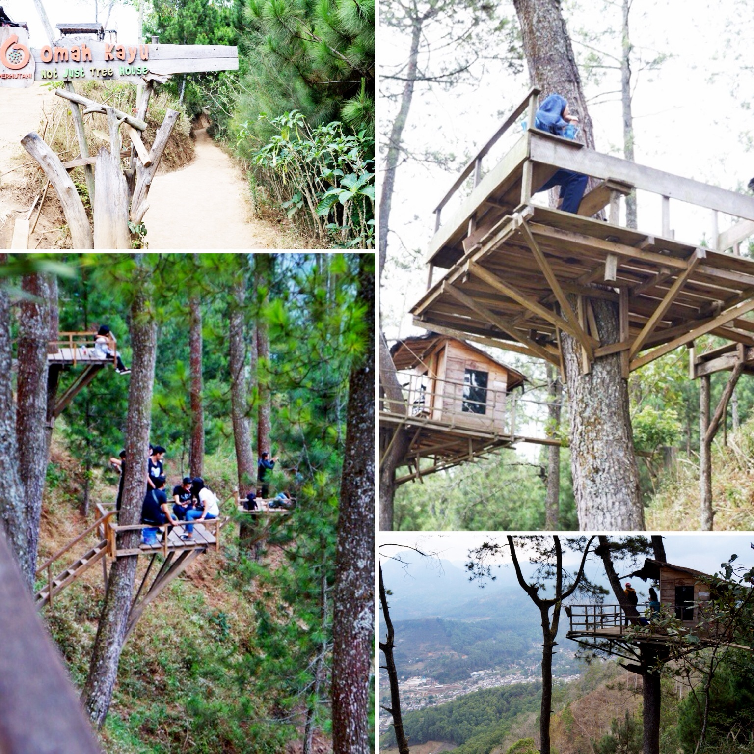 Salika Travel Wana Wisata Gunung Paralayang Omah Kayu Kota Batu