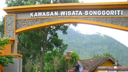 Pasar Wisata Songgoriti Pusat Oleh Batu Pintu Masuk Kota