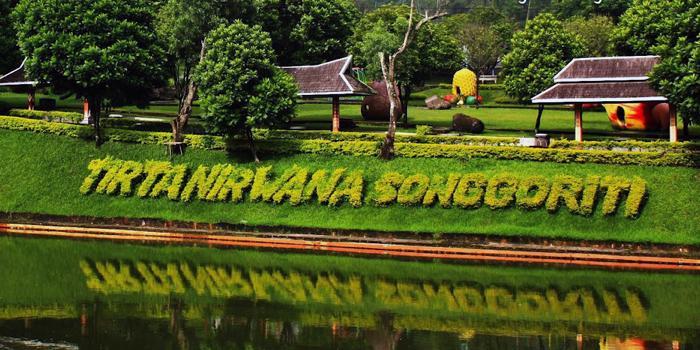 Tirta Nirwana Songgoriti Surga Air Batu Ngalam Taman Wisata Nyobamoto