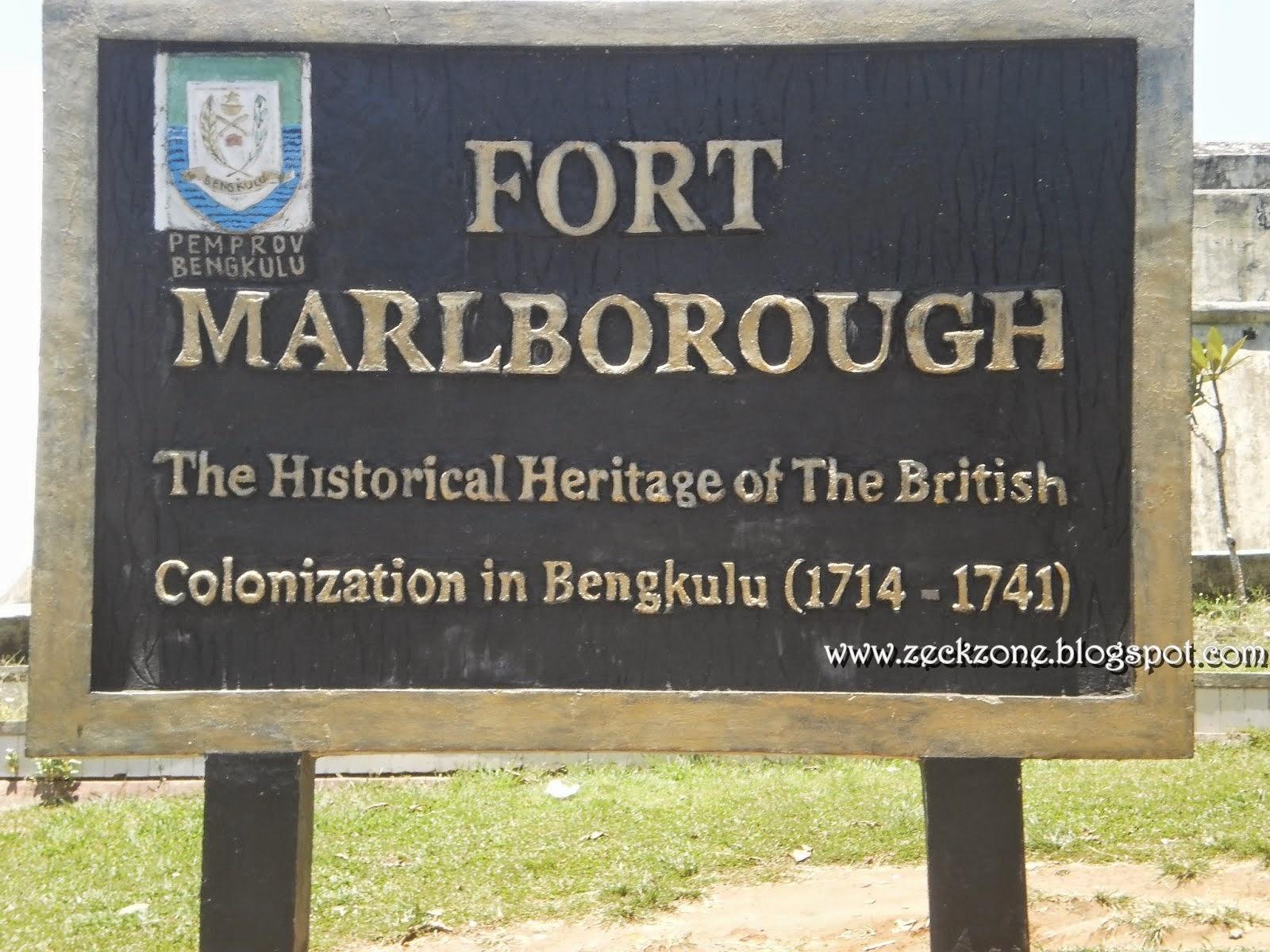 Sejarah Benteng Marlborough Kota Bengkulu
