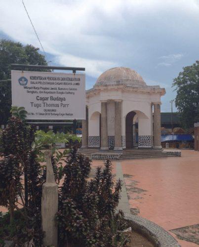Curves Tugu Thomas Parr Bengkulu Berbagi Kisahku Monumen Kota