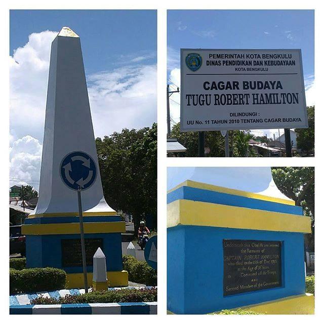 Wisata Sejarah Monumen Hamilton Bengkulu Pedoman Tugu Robert Foto Heritage