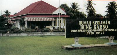 9a Tourism Places Rumah Pengasingan Soekarno Bengkulu Bung Karno Tempat