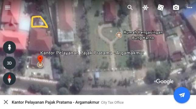 Arsip Tanah Shm Pusat Kota Bengkulu Sebelah Rumah Pengasingan Bung