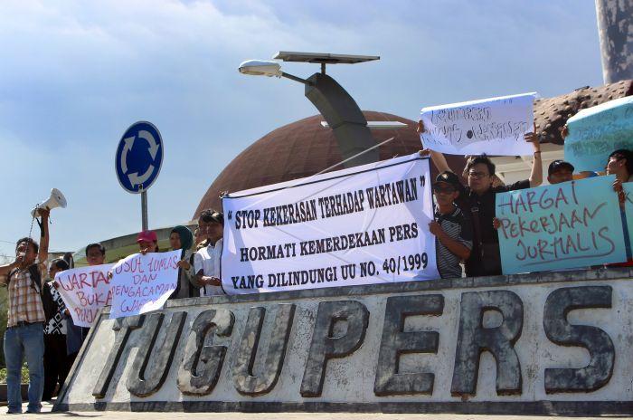 Kecam Kekerasan Terhadap Jurnalis Antara Foto Tergabung Perhimpunan Wartawan Indonesia