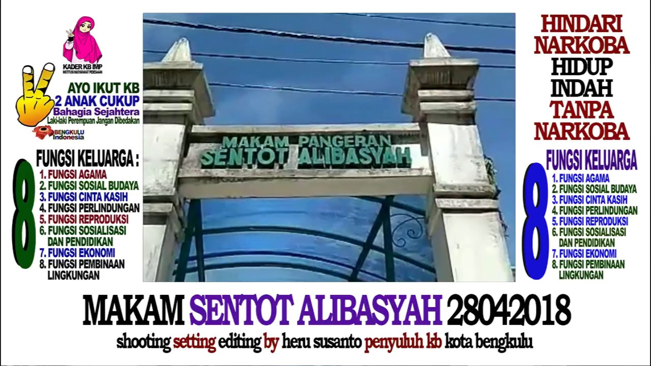 Makam Sentot Alibasyah Kelurahan Bajak Kota Bengkulu 28042018 Youtube Tugu