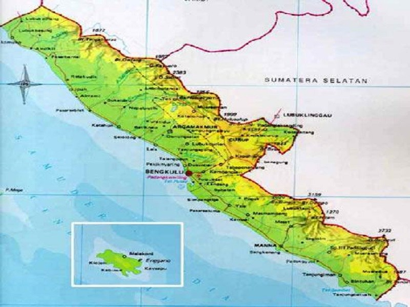 Pesona Wisata Gambar Peta Bengkulu1 Jpg Fit 800 600 Bengkulu