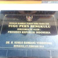 Tugu Pers Bengkulu Jl Jend Sudirman Foto Diambil Oleh Sigit
