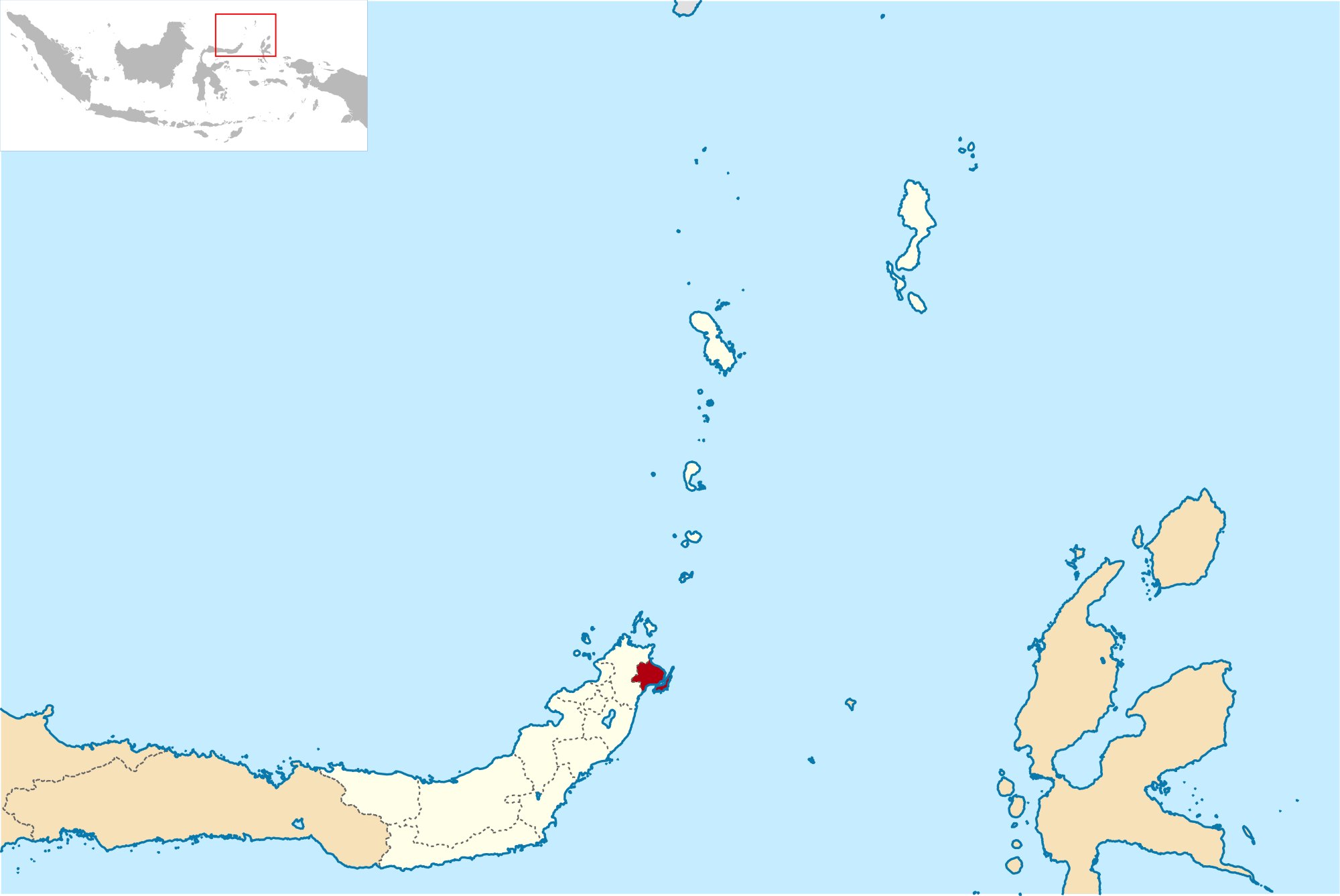 Kota Bitung Wikipedia Bahasa Indonesia Ensiklopedia Bebas Lokasi Sulawesi Utara