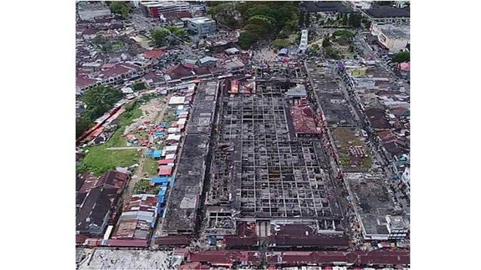 Diamuk Api Pasar Atas Bukittinggi Tinggal Kerangka Lantai Pasca Dimamah