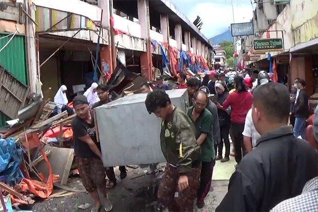 Pedagang Pasar Atas Bukittinggi Korban Kebakaran Minta Segera Direlokasi Kota