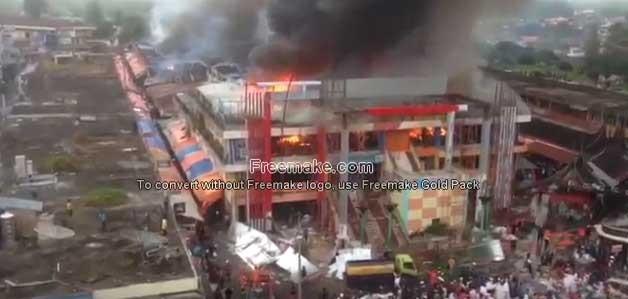 Video Penampakan Kebakaran Pasar Atas Bukittinggi Kota Bukit Tinggi