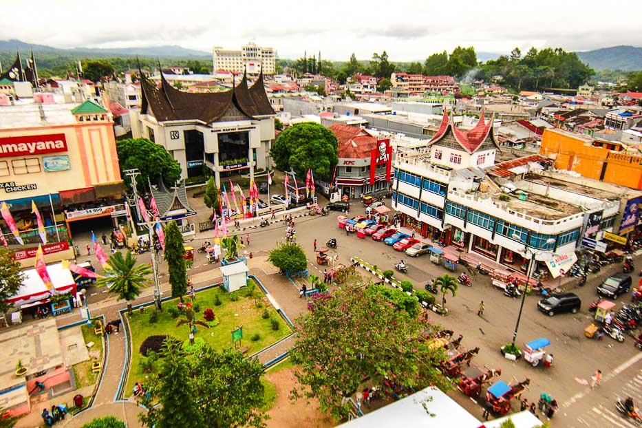 Wonderful Indonesia Bukittinggi View Pasar Atas Kota