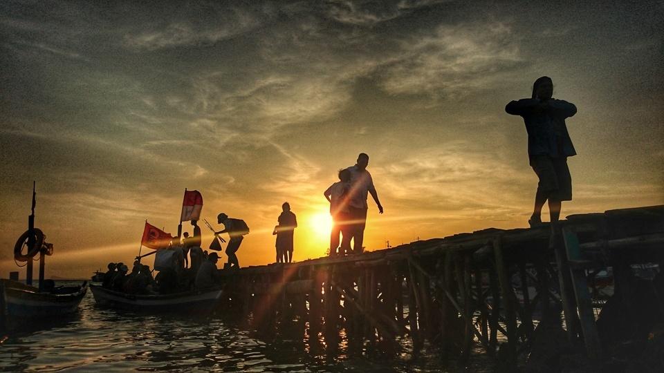 Pemancing Pantai Mabak Fotokita Kota Cilegon