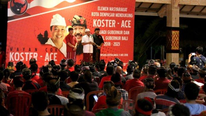 Ribuan Warga Karangasem Buleleng Denpasar Siap Menangkan Koster Ace Desa