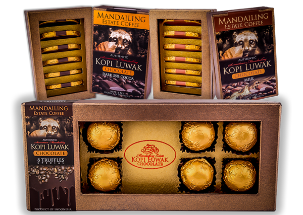 Home Mandailing Estate Coffee Wild Kopi Luwak Chocolate Range Kebun