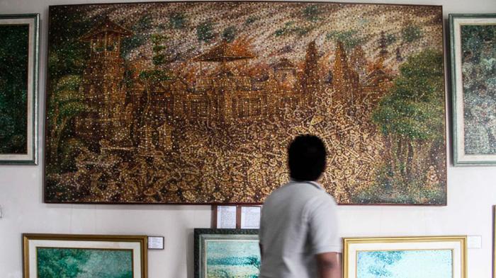Museum Sidik Jari Bali Pamerkan Teknik Lukis Totol Lukisan Denpasar
