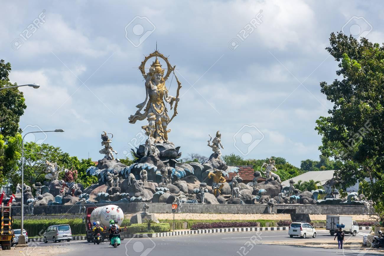 Denpasar Indonesia August 3 2016 Patung Titi Banda Monument Kota